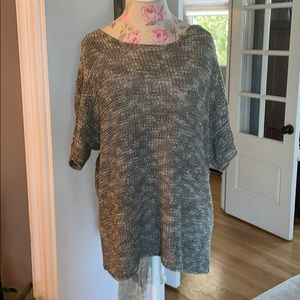 Chico's loose knit short sleeve sweater